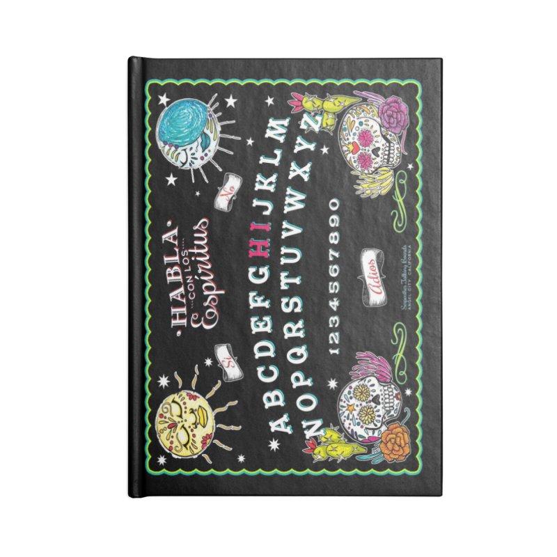 Calavera Ouija Accessories Lined Journal Notebook by serpenthes's Artist Shop
