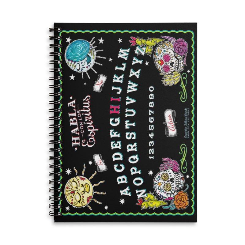 Calavera Ouija Accessories Lined Spiral Notebook by serpenthes's Artist Shop
