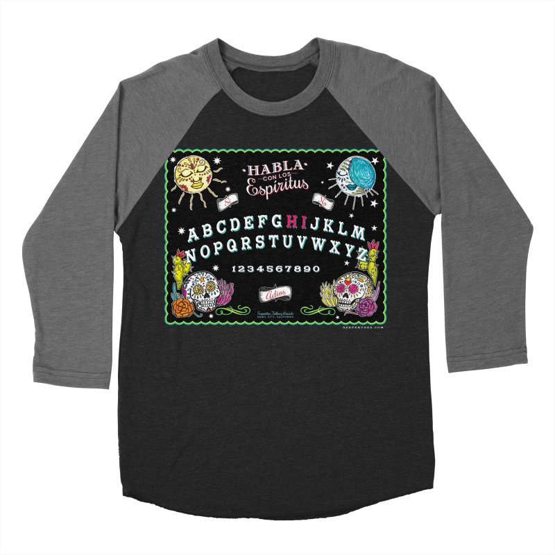 Calavera Ouija Women's Baseball Triblend Longsleeve T-Shirt by serpenthes's Artist Shop