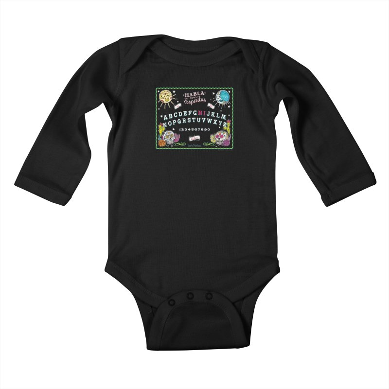 Calavera Ouija Kids Baby Longsleeve Bodysuit by serpenthes's Artist Shop