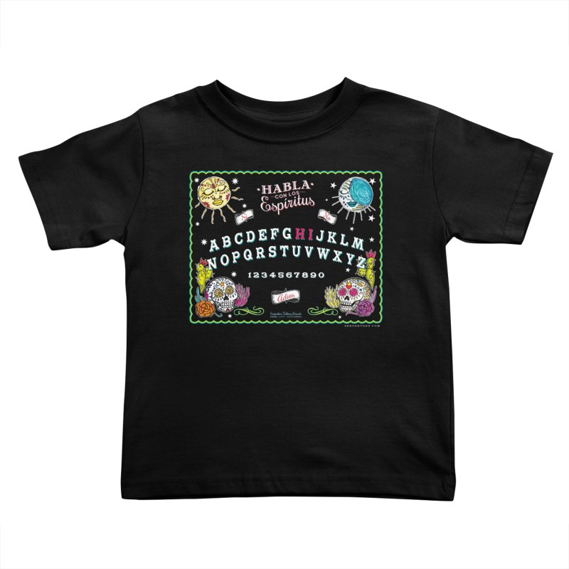 Calavera Ouija Kids Toddler T-Shirt by serpenthes's Artist Shop
