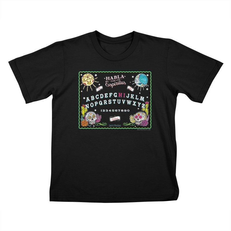 Calavera Ouija Kids T-Shirt by serpenthes's Artist Shop