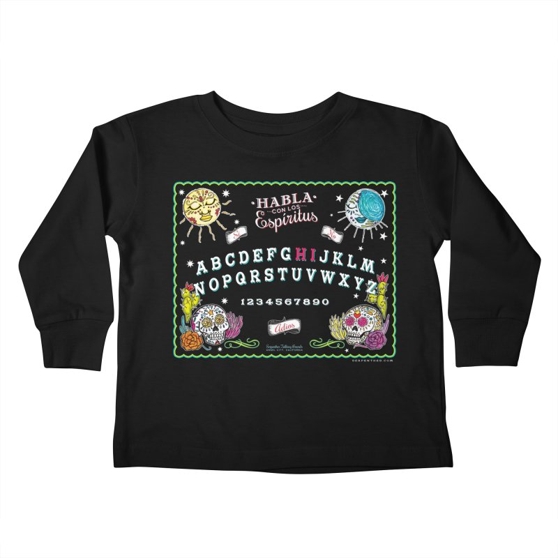 Calavera Ouija Kids Toddler Longsleeve T-Shirt by serpenthes's Artist Shop