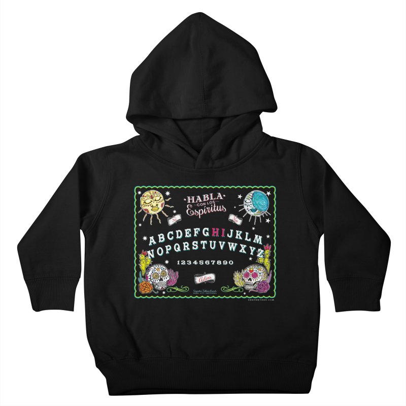 Calavera Ouija Kids Toddler Pullover Hoody by serpenthes's Artist Shop