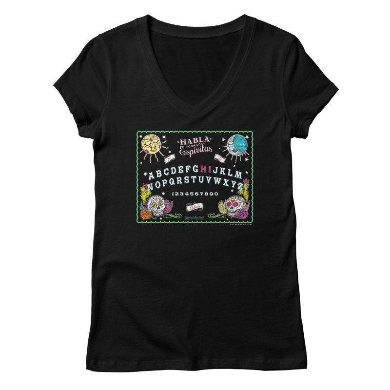 Calavera Ouija Women's Regular V-Neck by serpenthes's Artist Shop