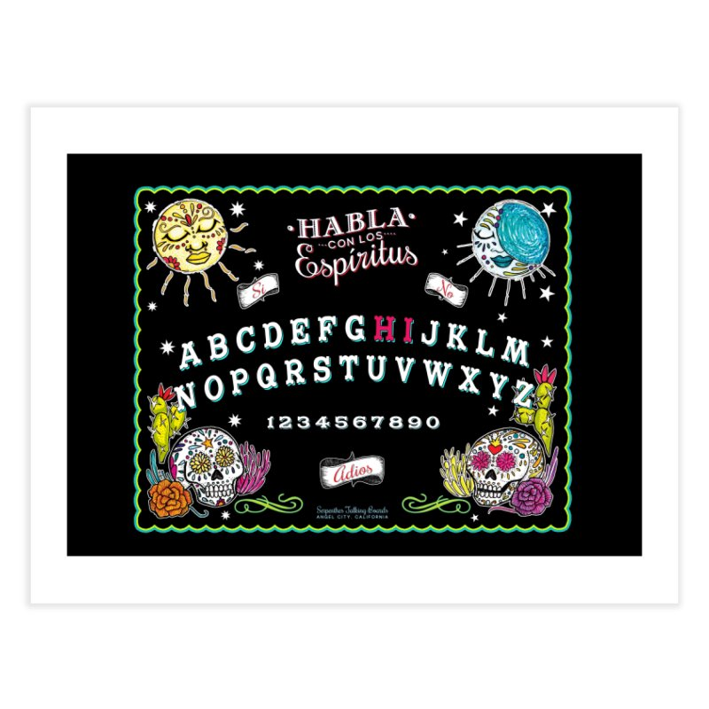 Calavera Ouija Home Fine Art Print by serpenthes's Artist Shop