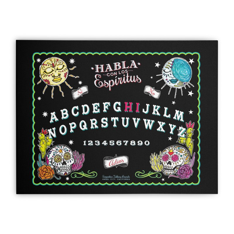 Calavera Ouija Home Stretched Canvas by serpenthes's Artist Shop