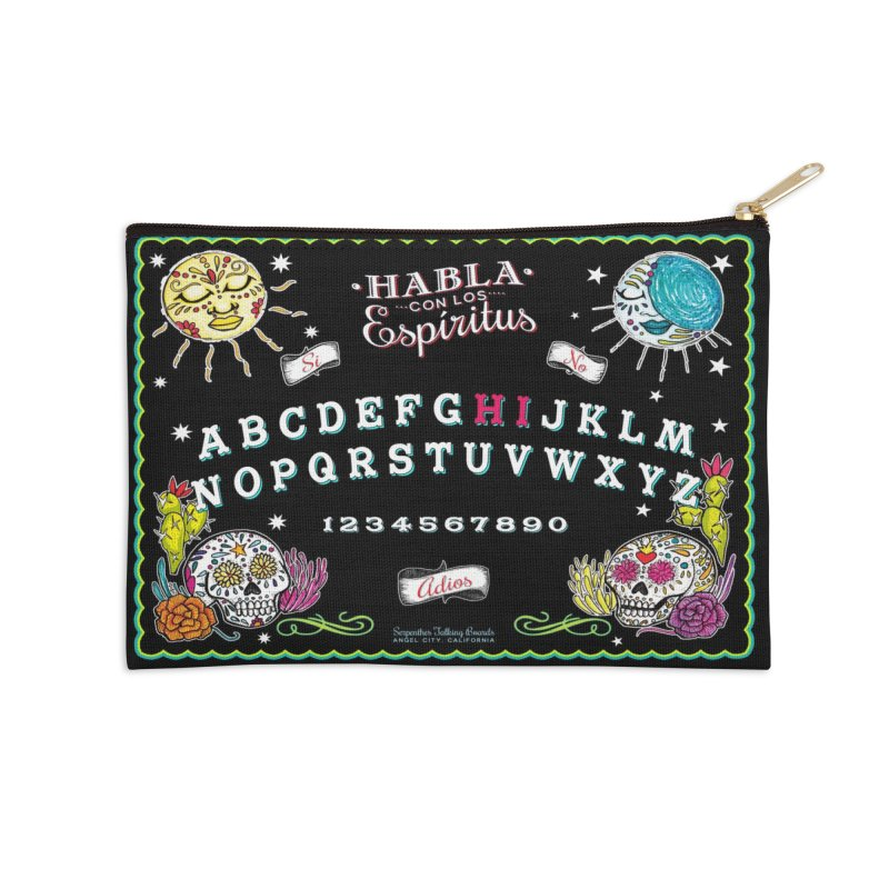 Calavera Ouija Accessories Zip Pouch by serpenthes's Artist Shop