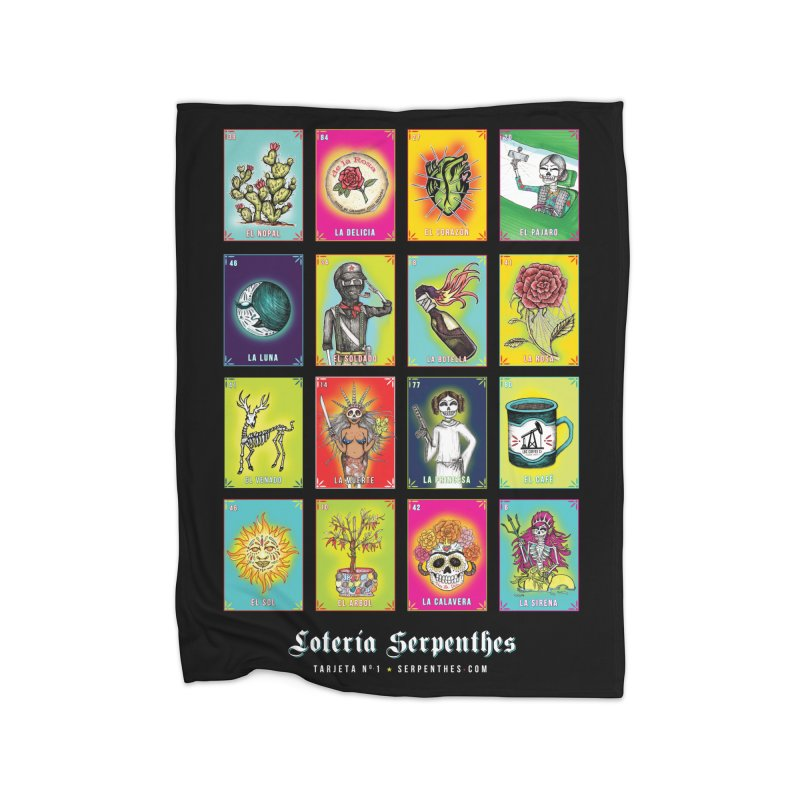 Loteria Serpenthes Home Blanket by serpenthes's Artist Shop