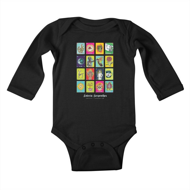 Loteria Serpenthes Kids Baby Longsleeve Bodysuit by serpenthes's Artist Shop