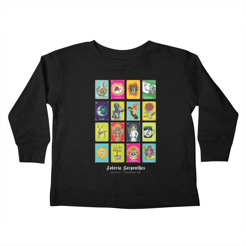 Loteria Serpenthes Kids Toddler Longsleeve T-Shirt by serpenthes's Artist Shop