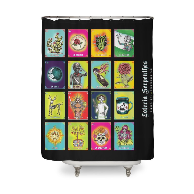 Loteria Serpenthes Home Shower Curtain by serpenthes's Artist Shop