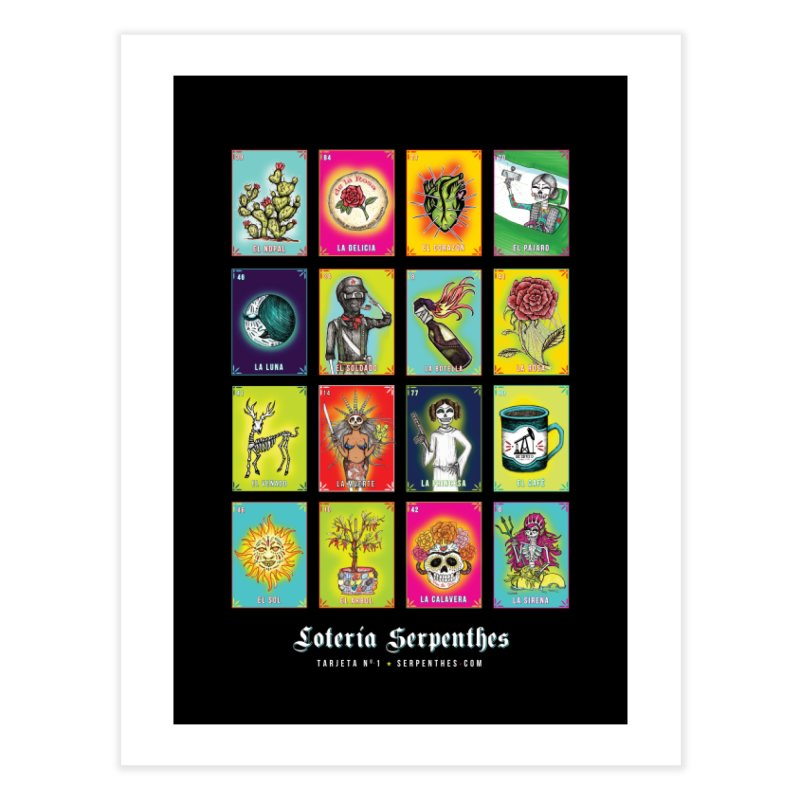 Loteria Serpenthes Home Fine Art Print by serpenthes's Artist Shop