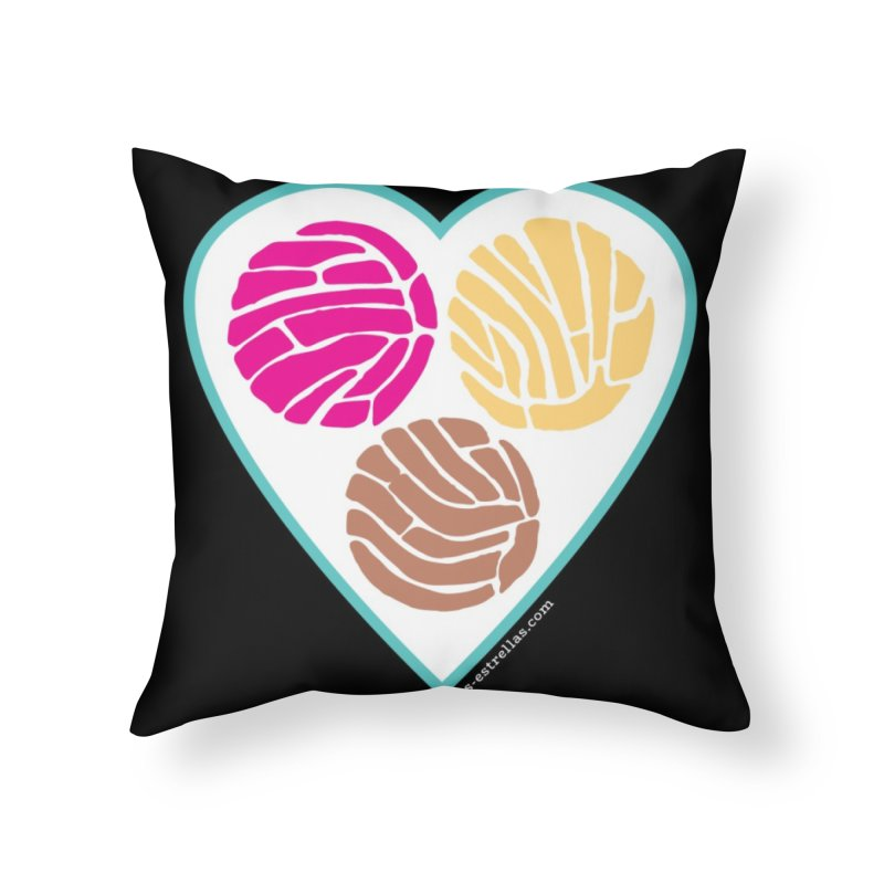 3 CONCHAS Home Throw Pillow by serpenthes's Artist Shop