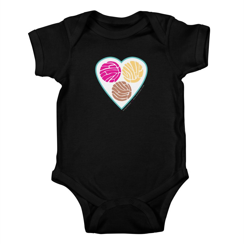 3 CONCHAS Kids Baby Bodysuit by serpenthes's Artist Shop
