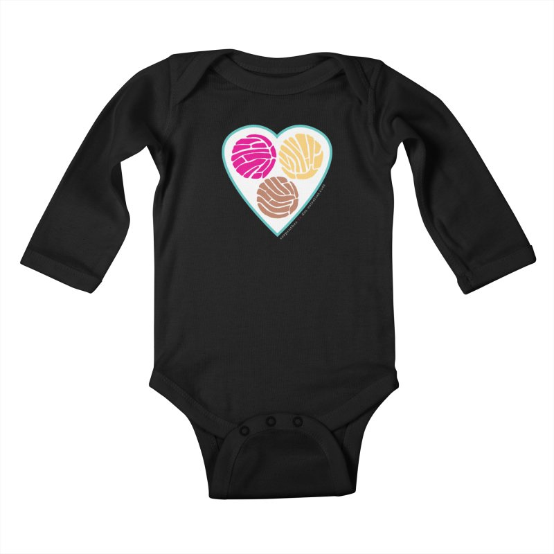 3 CONCHAS Kids Baby Longsleeve Bodysuit by serpenthes's Artist Shop