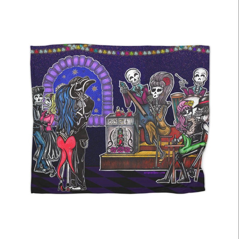 DEAD MAN'S PARTY Home Blanket by serpenthes's Artist Shop