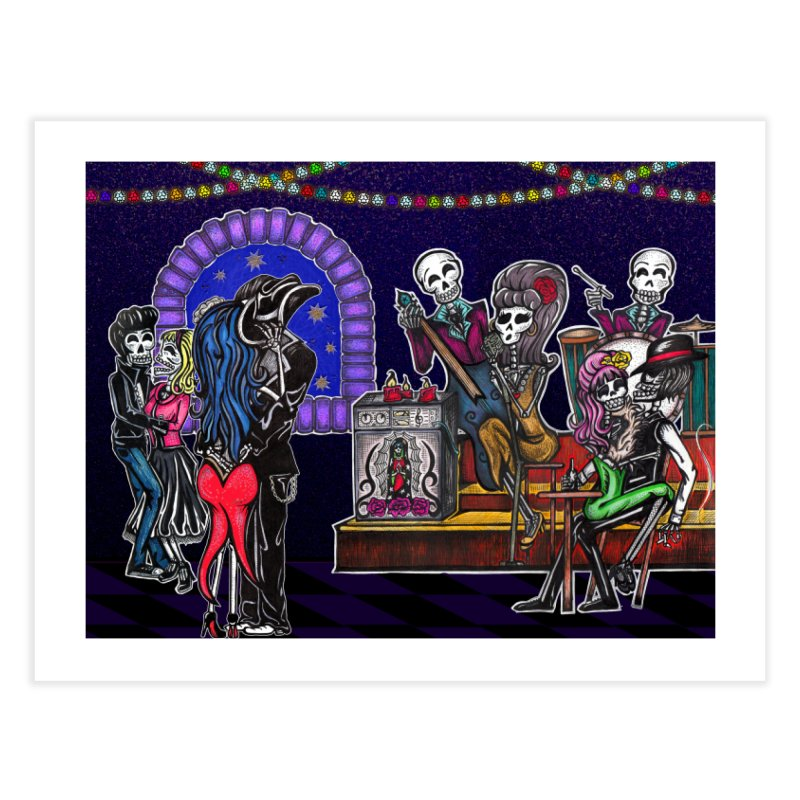 DEAD MAN'S PARTY Home Fine Art Print by serpenthes's Artist Shop
