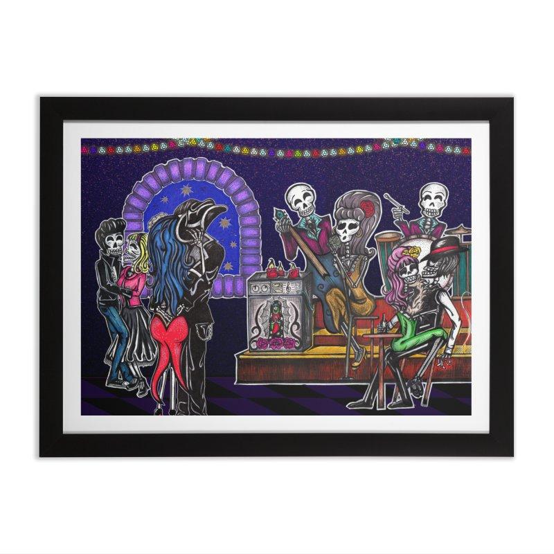 DEAD MAN'S PARTY Home Framed Fine Art Print by serpenthes's Artist Shop