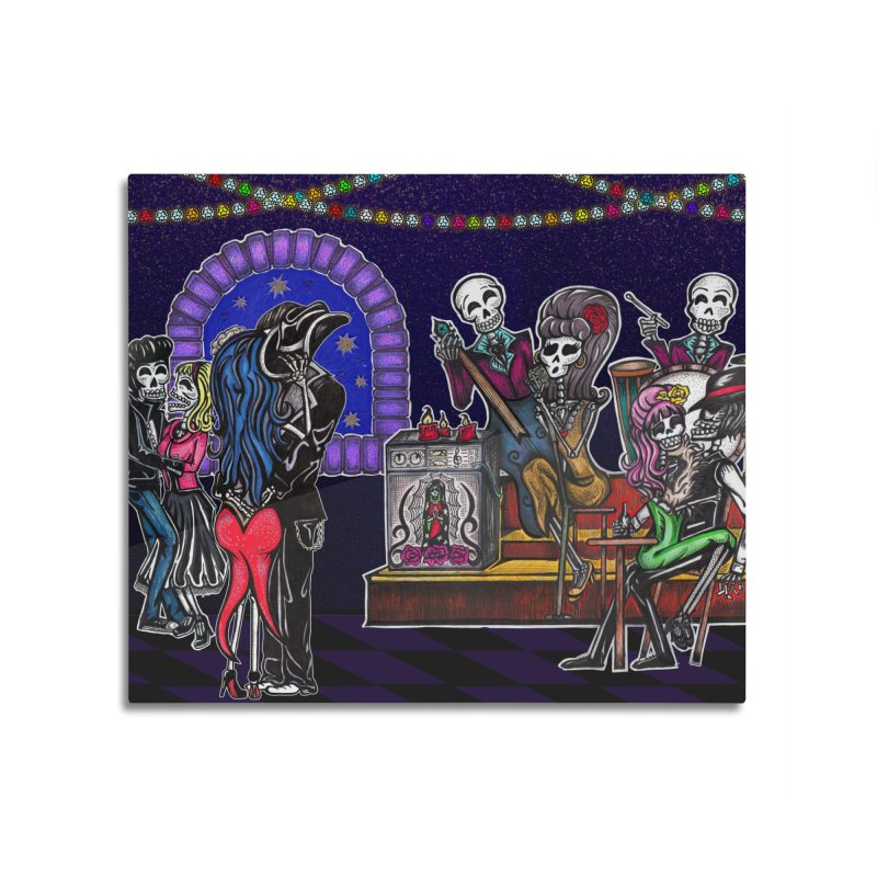 DEAD MAN'S PARTY Home Mounted Aluminum Print by serpenthes's Artist Shop