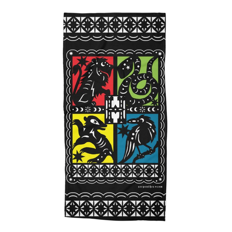 HOGWARTS HOUSES Papel Picado Accessories Beach Towel by serpenthes's Artist Shop