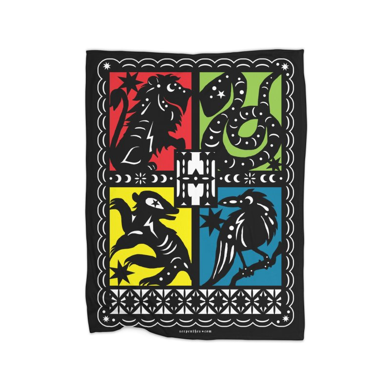 HOGWARTS HOUSES Papel Picado Home Fleece Blanket Blanket by serpenthes's Artist Shop