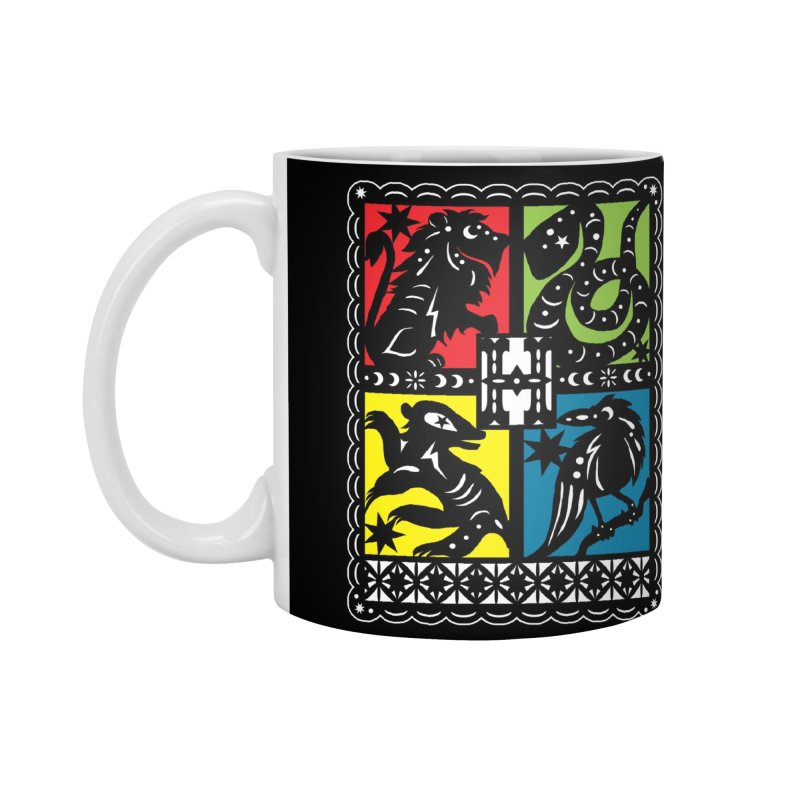 HOGWARTS HOUSES Papel Picado Accessories Mug by serpenthes's Artist Shop