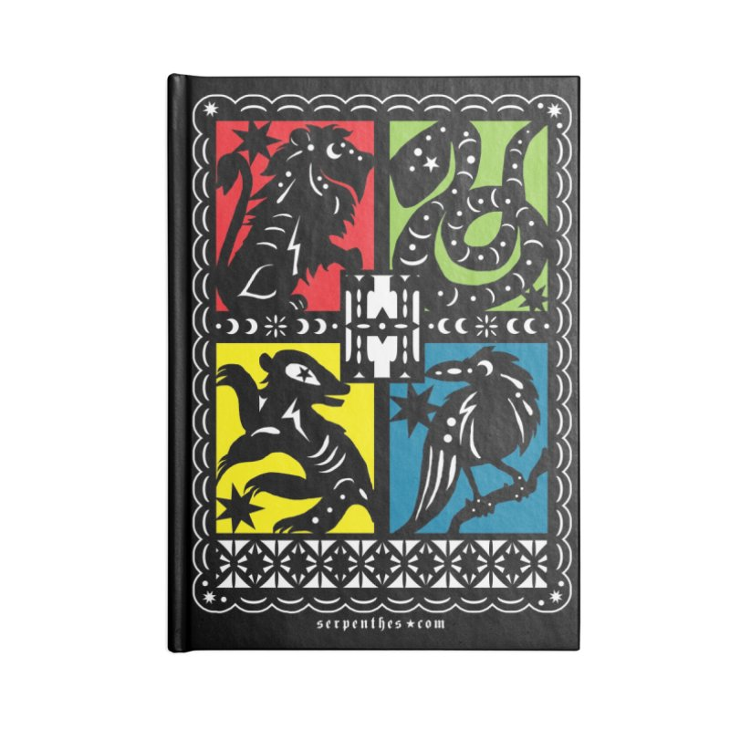 HOGWARTS HOUSES Papel Picado Accessories Notebook by serpenthes's Artist Shop