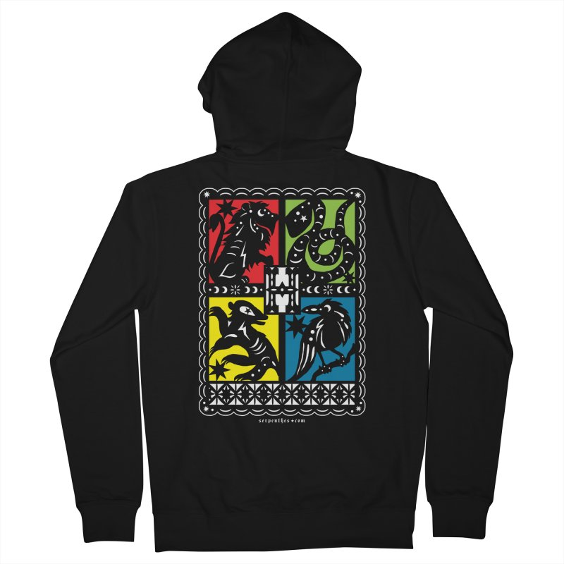 HOGWARTS HOUSES Papel Picado Men's Zip-Up Hoody by serpenthes's Artist Shop