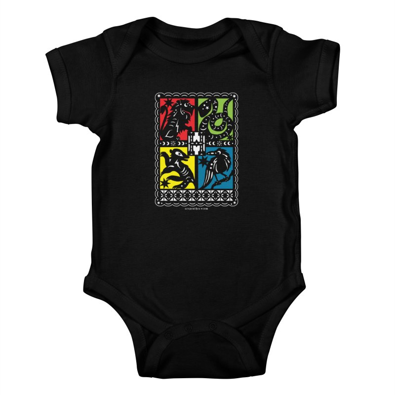HOGWARTS HOUSES Papel Picado Kids Baby Bodysuit by serpenthes's Artist Shop