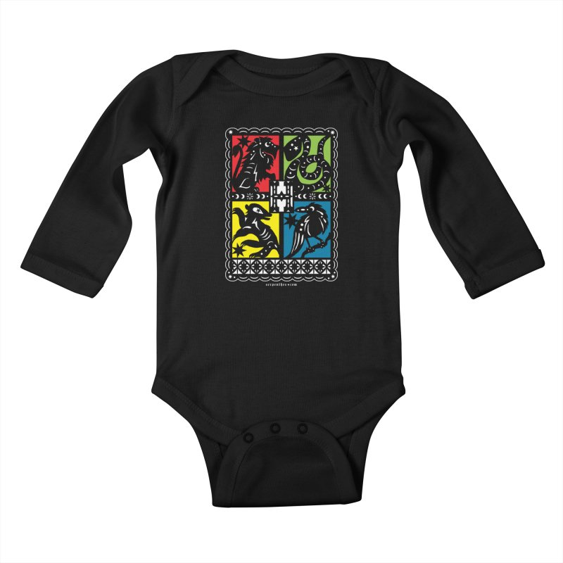 HOGWARTS HOUSES Papel Picado Kids Baby Longsleeve Bodysuit by serpenthes's Artist Shop
