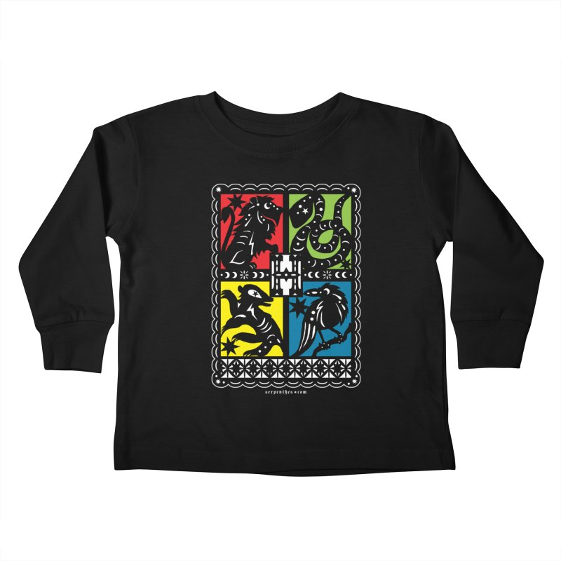 HOGWARTS HOUSES Papel Picado Kids Toddler Longsleeve T-Shirt by serpenthes's Artist Shop