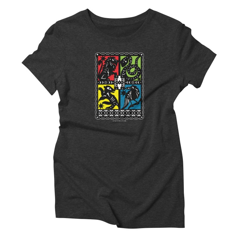 HOGWARTS HOUSES Papel Picado Women's T-Shirt by serpenthes's Artist Shop