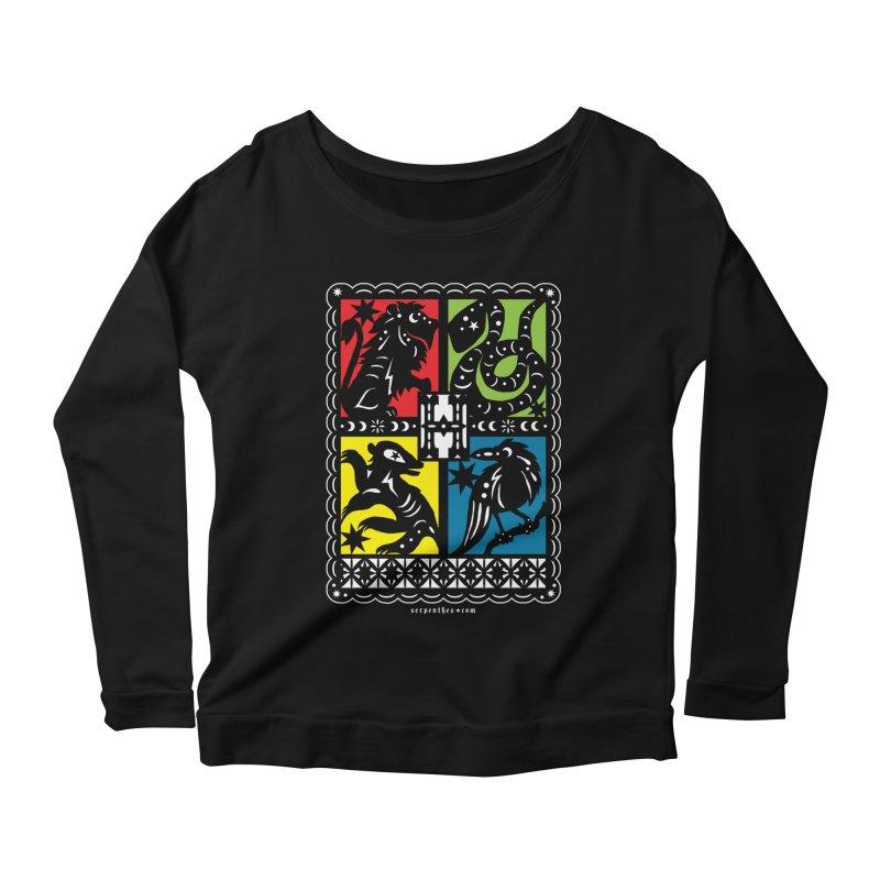 HOGWARTS HOUSES Papel Picado Women's Scoop Neck Longsleeve T-Shirt by serpenthes's Artist Shop