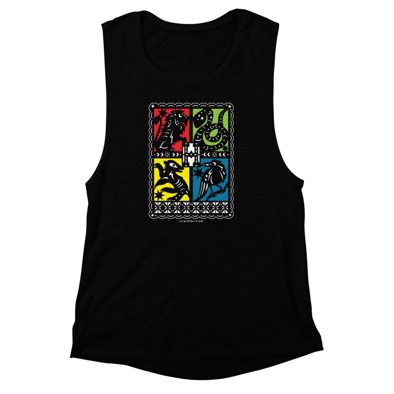 HOGWARTS HOUSES Papel Picado Women's Muscle Tank by serpenthes's Artist Shop