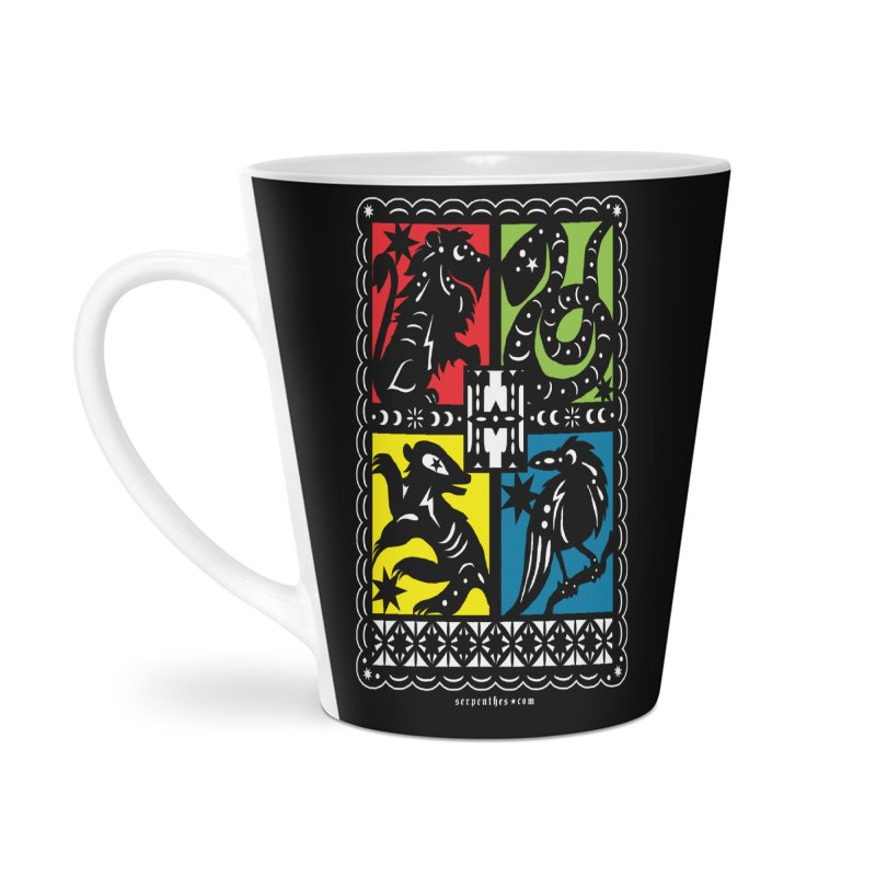 HOGWARTS HOUSES Papel Picado Accessories Latte Mug by serpenthes's Artist Shop
