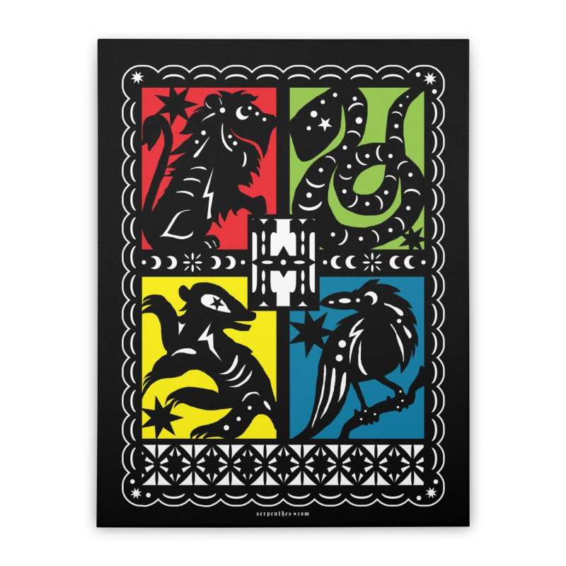 HOGWARTS HOUSES Papel Picado Home Stretched Canvas by serpenthes's Artist Shop