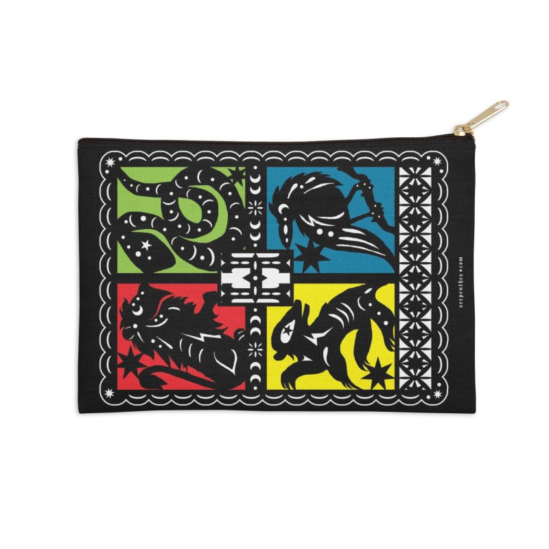 HOGWARTS HOUSES Papel Picado Accessories Zip Pouch by serpenthes's Artist Shop