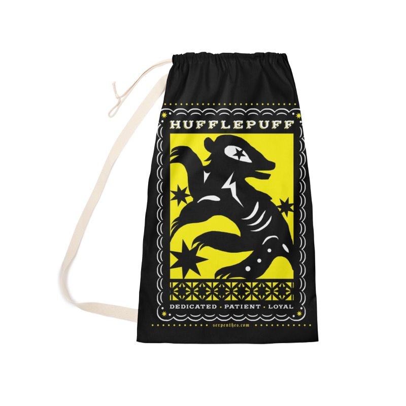 HUFFLEPUFF Mexican Papel Picado inspired Hogwarts House Crest Accessories Laundry Bag Bag by serpenthes's Artist Shop