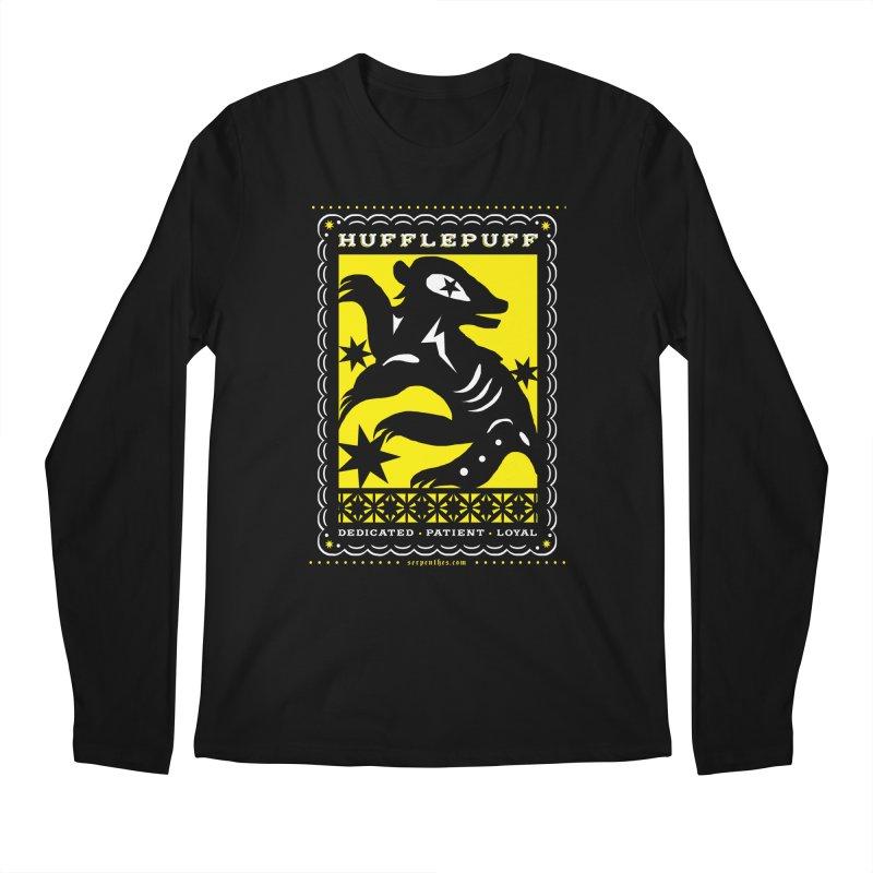 HUFFLEPUFF Mexican Papel Picado inspired Hogwarts House Crest Men's Regular Longsleeve T-Shirt by serpenthes's Artist Shop