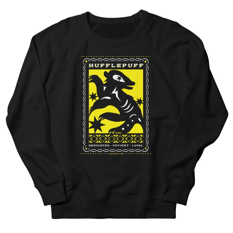 HUFFLEPUFF Mexican Papel Picado inspired Hogwarts House Crest Women's French Terry Sweatshirt by serpenthes's Artist Shop