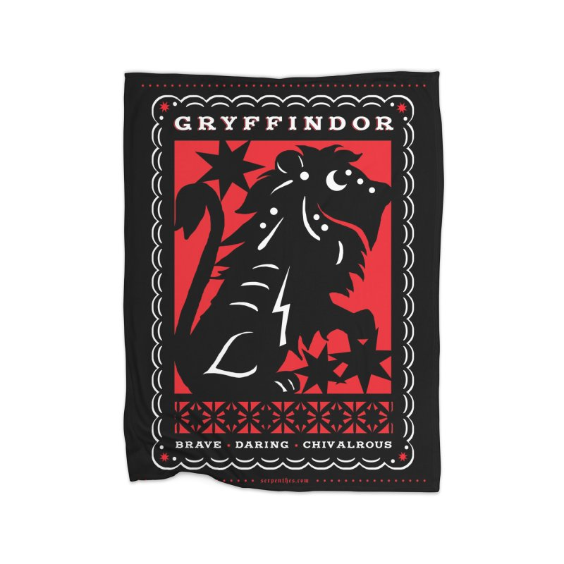 GRYFFINDOR Mexican Papel Picado Inspired Hogwarts House Crest Home Blanket by serpenthes's Artist Shop