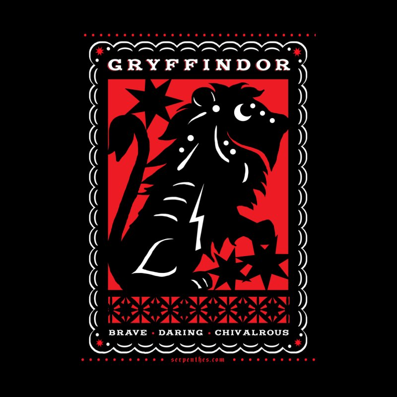 GRYFFINDOR Mexican Papel Picado Inspired Hogwarts House Crest Men's T-Shirt by serpenthes's Artist Shop