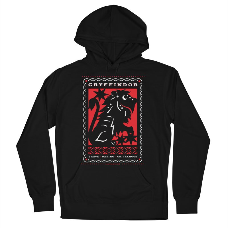GRYFFINDOR Mexican Papel Picado Inspired Hogwarts House Crest Men's Pullover Hoody by serpenthes's Artist Shop