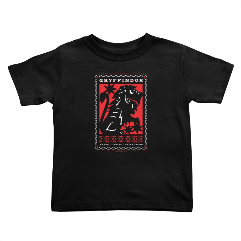 GRYFFINDOR Mexican Papel Picado Inspired Hogwarts House Crest Kids Toddler T-Shirt by serpenthes's Artist Shop