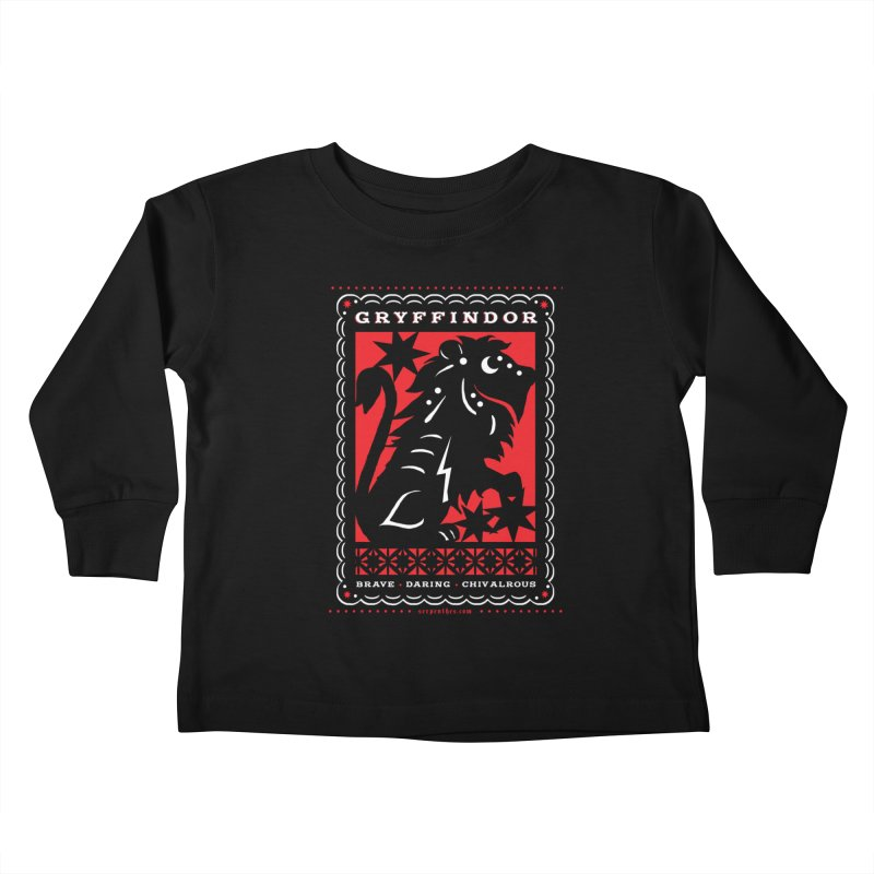 GRYFFINDOR Mexican Papel Picado Inspired Hogwarts House Crest Kids Toddler Longsleeve T-Shirt by serpenthes's Artist Shop