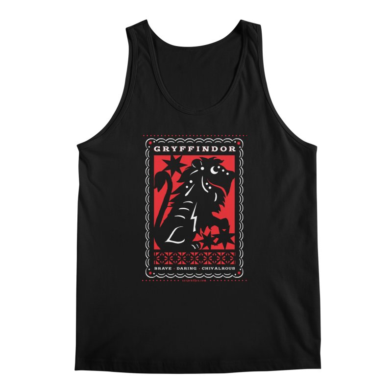 GRYFFINDOR Mexican Papel Picado Inspired Hogwarts House Crest Men's Regular Tank by serpenthes's Artist Shop