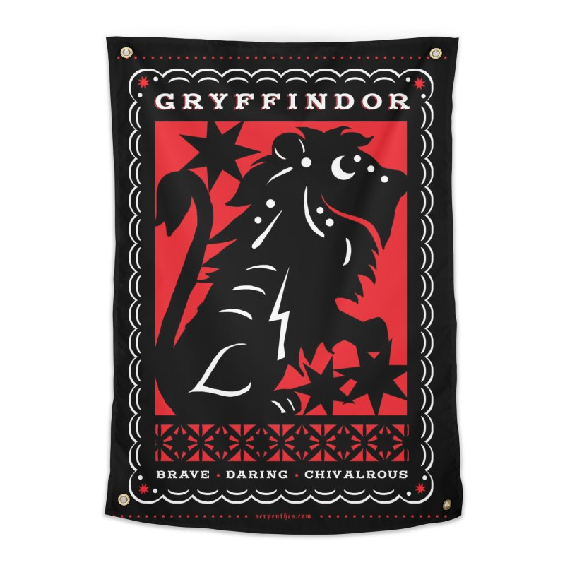 GRYFFINDOR Mexican Papel Picado Inspired Hogwarts House Crest Home Tapestry by serpenthes's Artist Shop