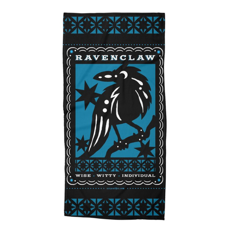 RAVENCLAW Mexican Papel Picado Inspired Hogwarts House Crest Accessories Beach Towel by serpenthes's Artist Shop