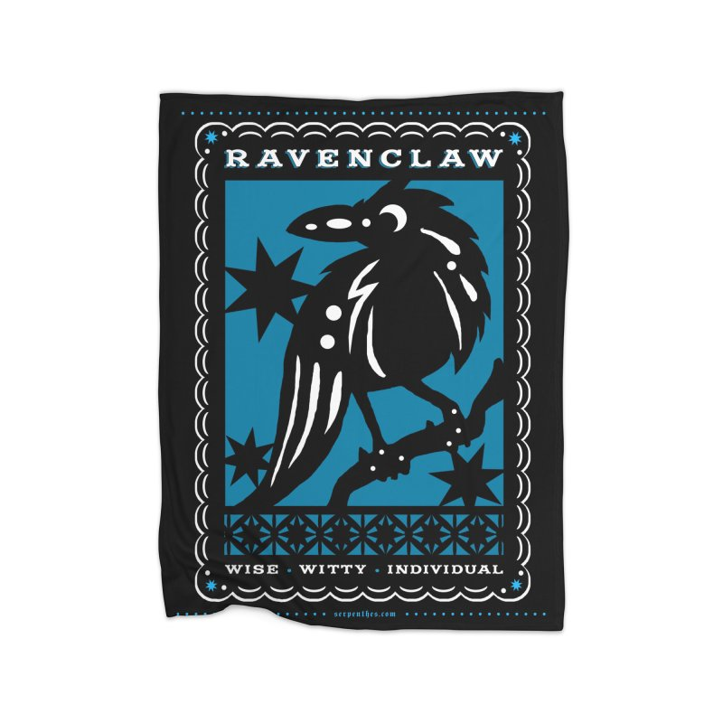 RAVENCLAW Mexican Papel Picado Inspired Hogwarts House Crest Home Fleece Blanket Blanket by serpenthes's Artist Shop